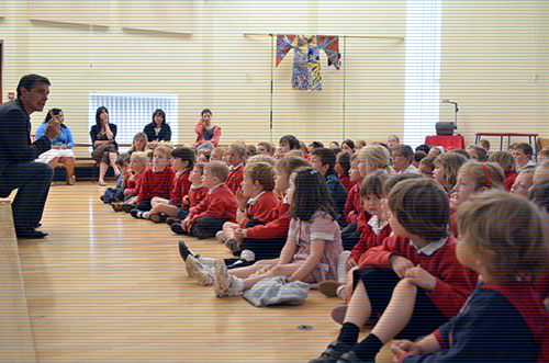 Andy in assembly